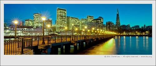 San Francisco Waterfront with Holiday Lights 2 | by Daniel Leu