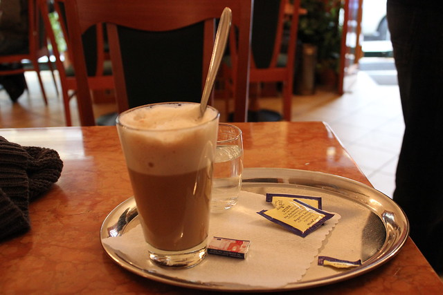 Cafe-latte en Viena