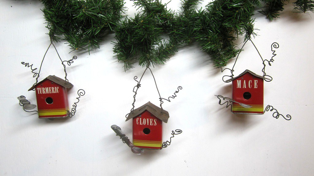 ... Vintage Spice Tin Birdhouse Christmas Tree Ornaments | by The Dusty  Raven Gallery - Vintage Spice Tin Birdhouse Christmas Tree Ornaments Flickr