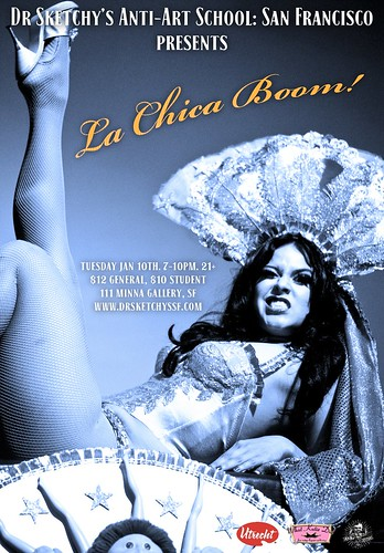 Dr Sketchy's SF presents La Chica Boom. | by Alice Stribling