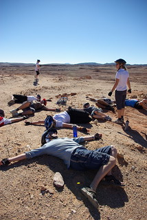 Stretching in The Sianai Desert | by The Hungry Cyclist