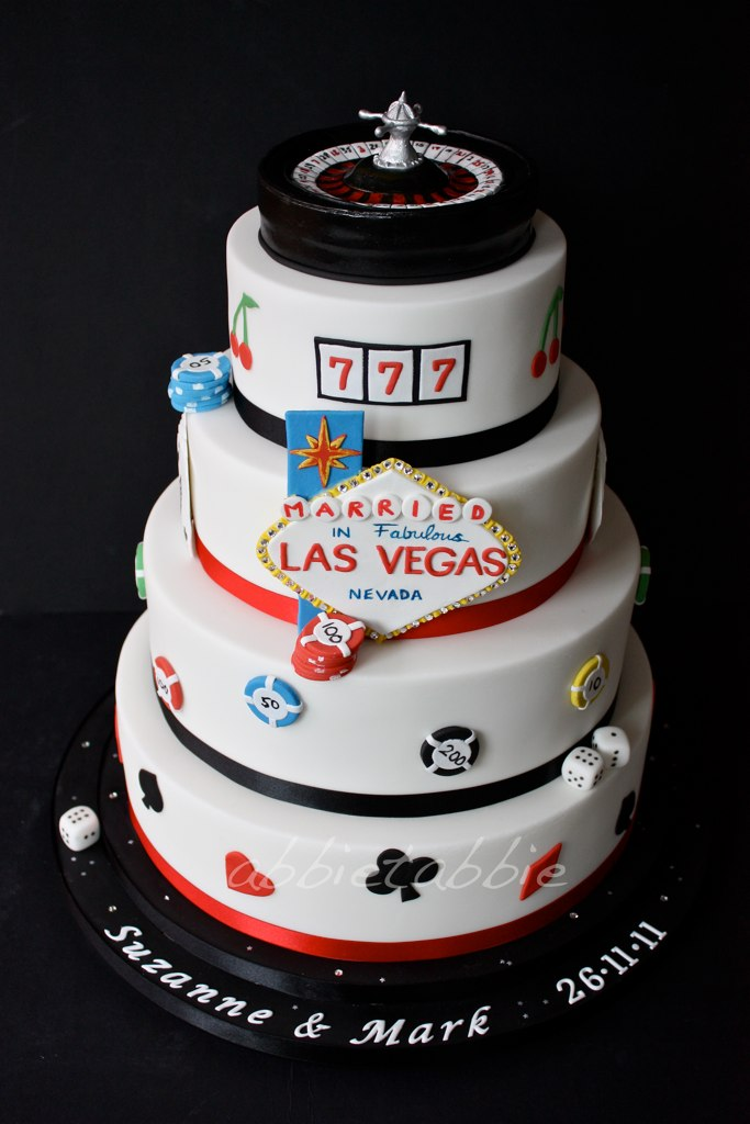 Las Vegas Themed Wedding Cake This Is For A Friend Of Flickr