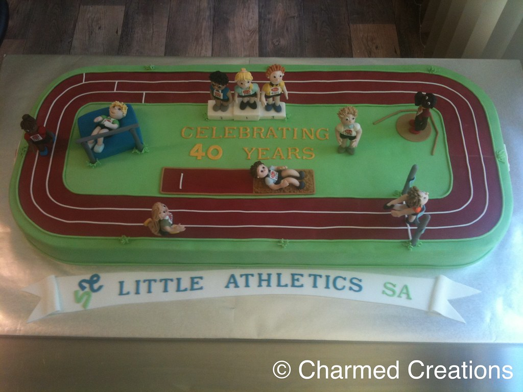Little Athletics Cake 40cm X 90cm Nicole Pegler Flickr