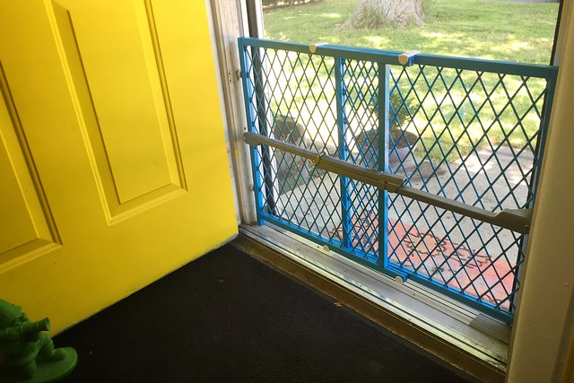 Painted baby gate