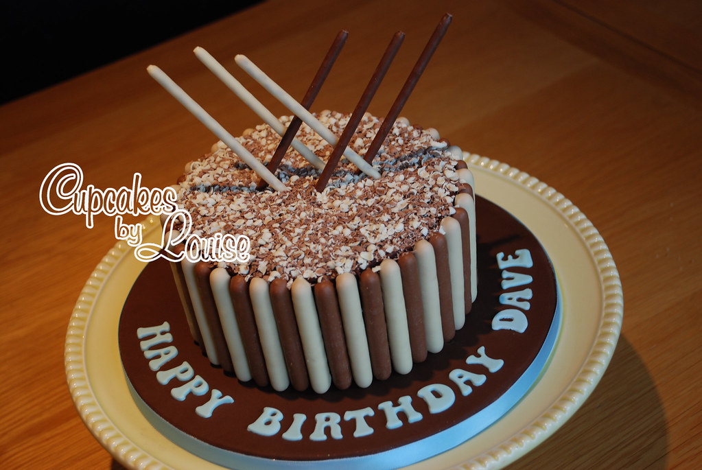 Chocolate finger birthday cake LOUISE M Flickr