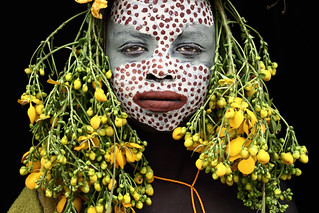 powerful decorated surma lady / ethiopia | by Mario Gerth Photography