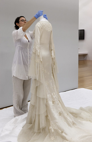 Unpacking dresses for the Unveiled exhibition at TePapa | by Museum of New Zealand Te Papa Tongarewa