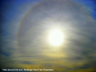 Halo around the sun, Birdlings Flat | by metservice.nz