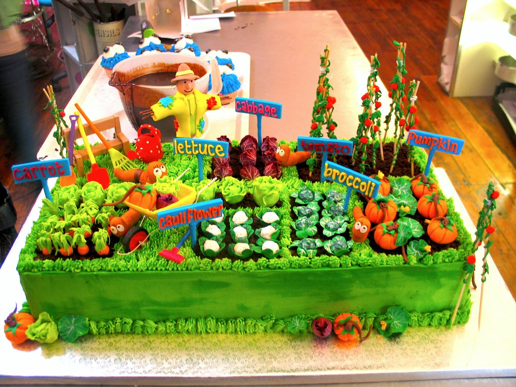 Danis Veggie Garden Birthday Cake For Earthchild Project Flickr