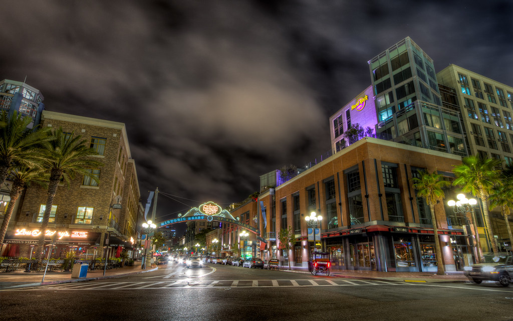 ... San Diego Gaslamp District Archway | By Justin In SD