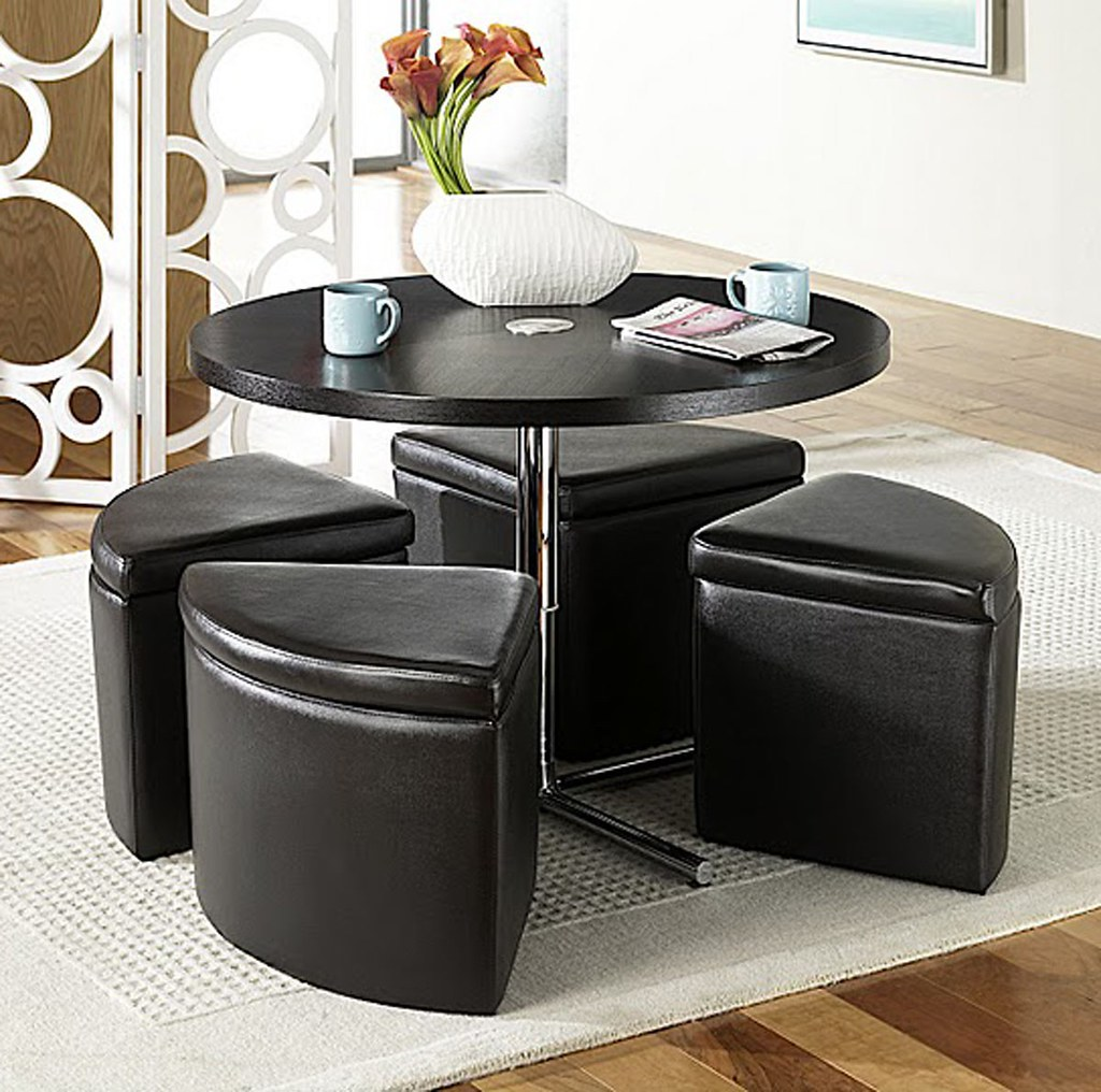 ... Sitcom Furniture Sedona Round Coffee Table W/ Ottomans | By BEYOND  Stores