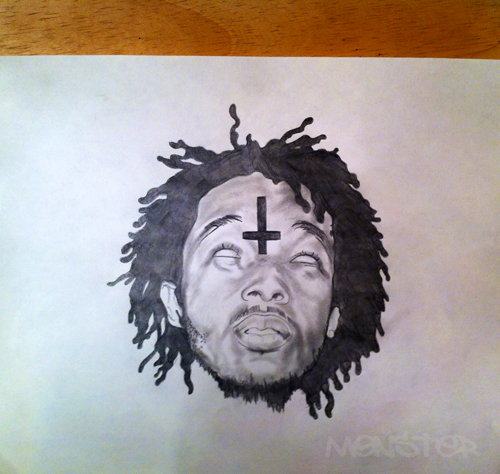 mike g drawing i did of mike g member of odd future cordero