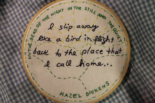 Hazel Dickens Embroidery | by DanaK~WaterPenny