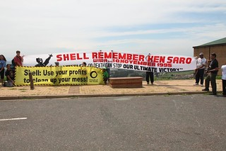 Action against Shell - Shell out of Tar Sands, Durban, and COP17 | by powless