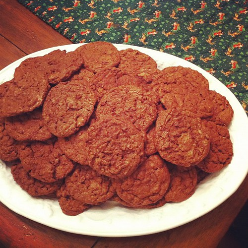 Six Dozen Chocolate Cake Reeses Peanut Butter Chunk Cookies using @ ...