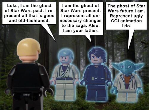 Day 19 a star wars carol luke is visited by three - Lego star wars anakin ghost ...