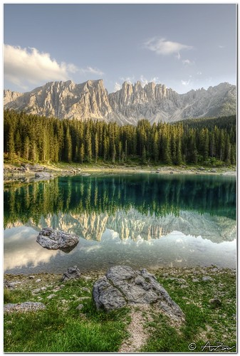 Latemar reflected on Carezza lake 2011-08-24 190233_4_hdr_filtered | by AnZanov