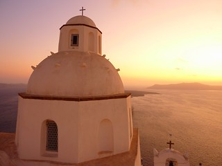Sunset in Fira, Santorini, Greece | by Frans.Sellies