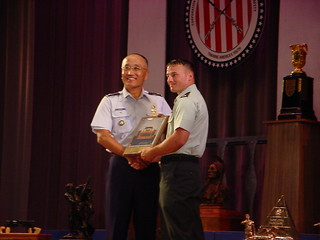 Col Chang presenting the US Army Forces Command Trophy to SGT Robert Park, II, USA | by USAF Shooting Team