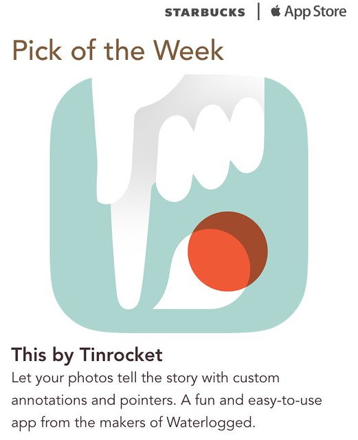 Starbucks iTunes Pick of the Week - This by Tinrocket