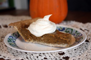Pumpkin Pie with Whipped Cream and Cinnamon | by CrystalECollins