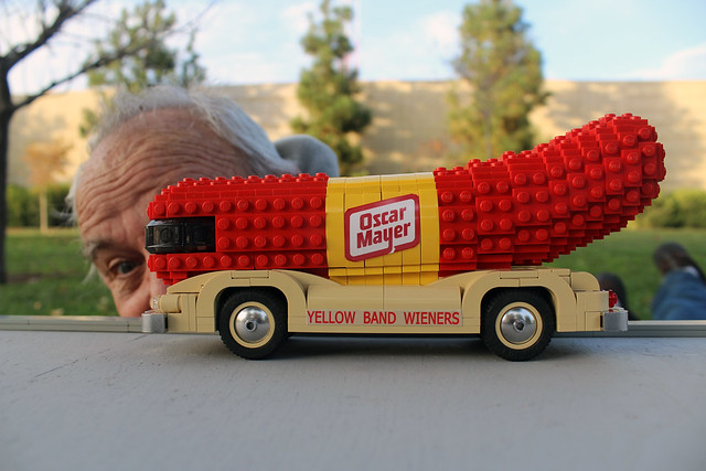Lego Wienermobile   Our favorite part of the Lego train layo ...