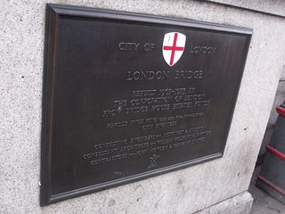 Modern London Bridge - River Thames - bronze plaque | by ell brown