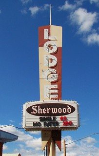 SD, Spearfish-Sherwood Lodge Motel Sign | by Alan C of Marion,IN