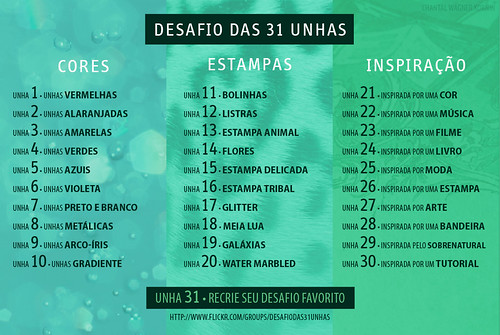Desafio Das 31 Unhas | by Cinthia Emerich