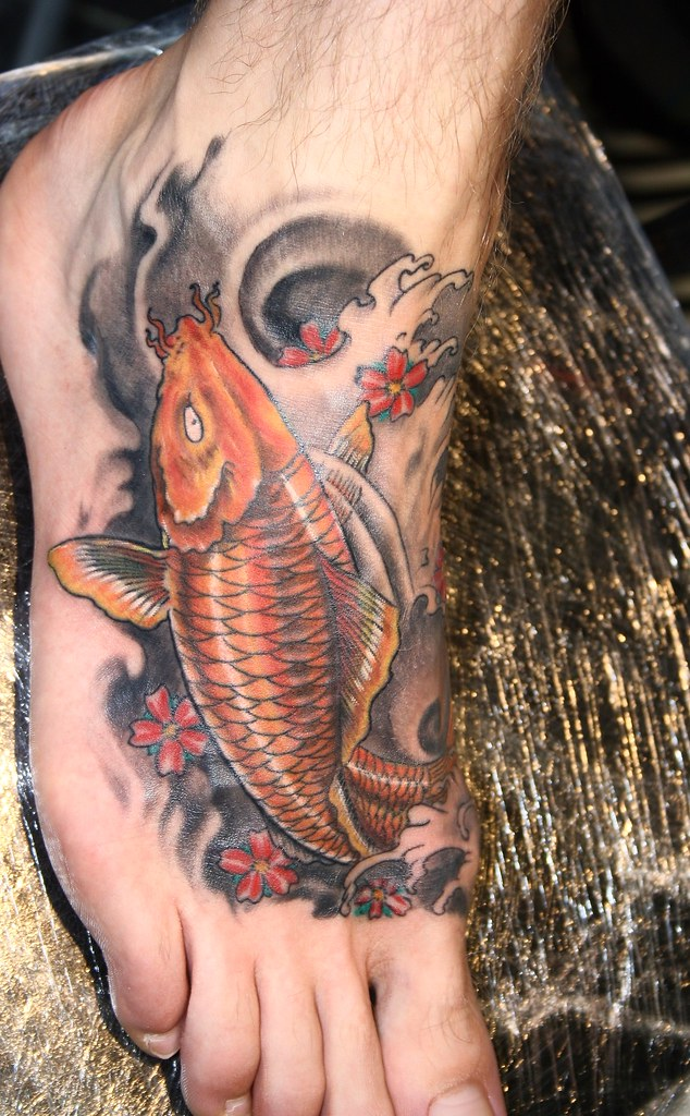 Koi Fish Tattoo On Foot Wwwtransylvaniaritesmfbizcom Flickr