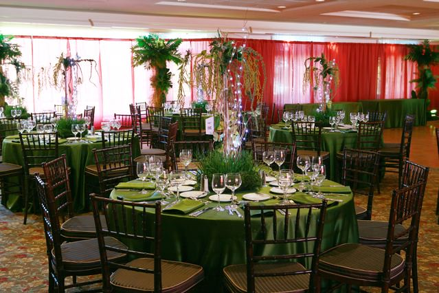 Rainforest theme Bar Mitzvah with jungle centerpieces and Flickr
