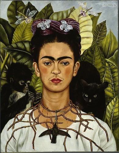 Frida Kahlo Selbstbildnis Mit Dornenhalsband 1940 Flickr