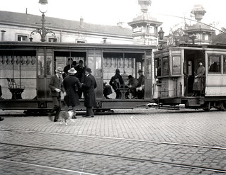 Tram stop in Brussels october 1922 | by Stockholm Transport Museum Commons