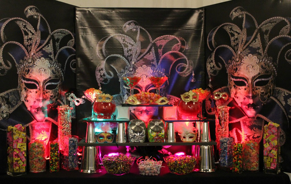 Masquerade Candy Table By Pittsburgh Buffet
