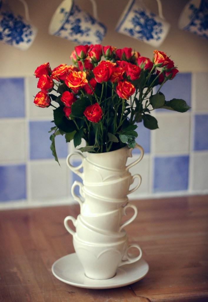 Teacup Tower Vase Olivia Alcock Flickr