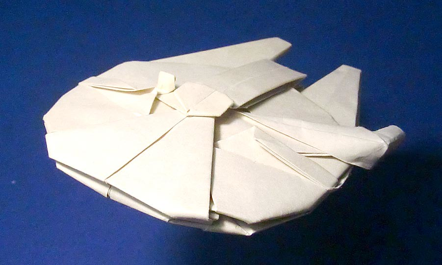 Millennium Falcon Origami New Photo With 35cm Square Paper Flickr