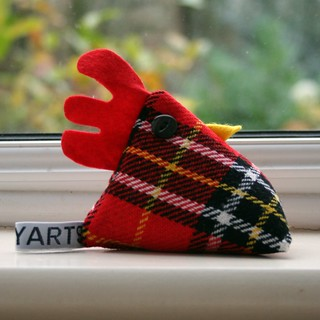 Hamish Mcplaid the cheeky chicken pincushion/paperweight | by Swirlyarts