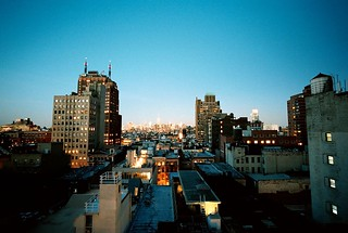Tribeca Rooftops Looking North, Manhattan (Bessa-L) | by ravikjolly