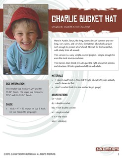 Charlie Bucket Hat pattern, page 1 | by elizgm