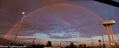 Full rainbow: Panorama view | by FJT Photography