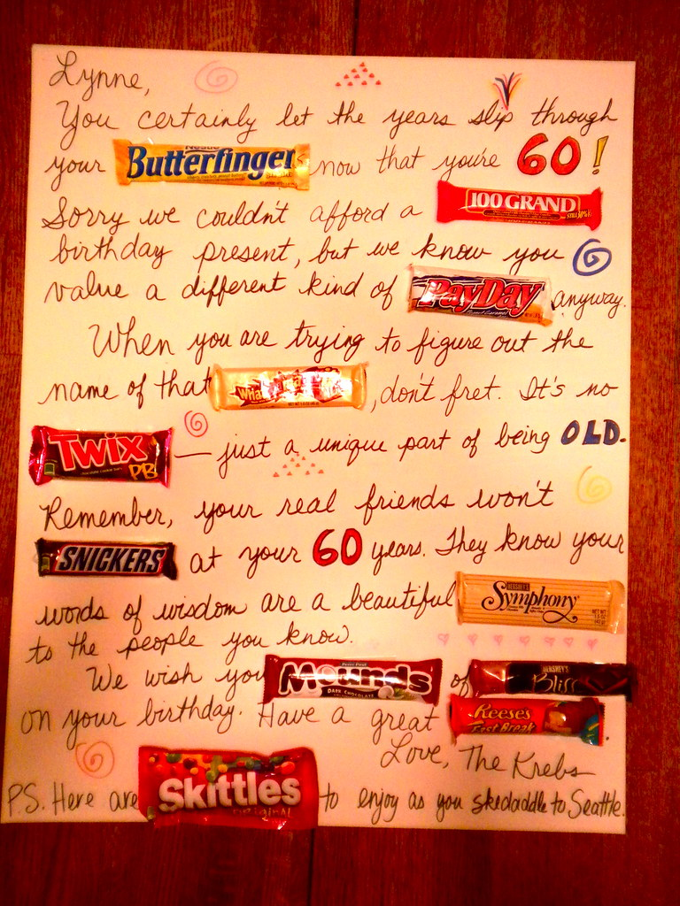 Candy bar greeting card our friend turned 60 and we creat flickr candy bar greeting card by mrsdkrebs bookmarktalkfo Image collections