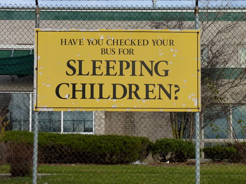 Have you checked your bus for sleeping children? | by yooperann