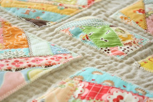 Modern Crazy Quilt for Aurifil Thread Challenge | by Erin @ Why Not Sew? Quilts