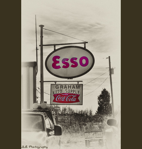 Graham Auto Supply, Esso sign, Coca-Cola sign | by J.L. Ramsaur Photography