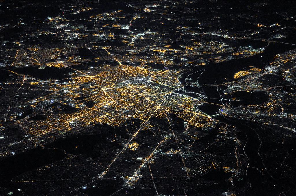 Image result for washington dc night aerial