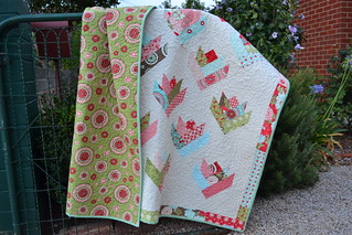 Floral Bouquet Quilt featuring Bliss | by sew&sews
