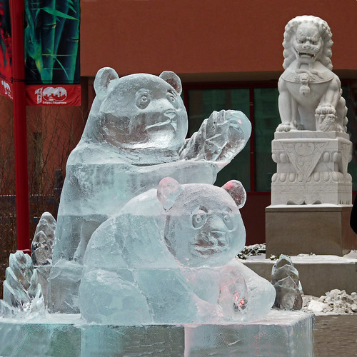Ice Sculpture----Panda Bears | by njchow82