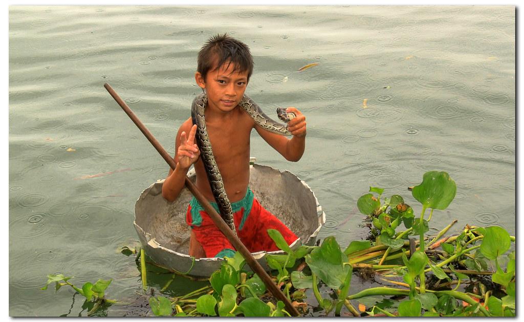 Cambodian snake boy