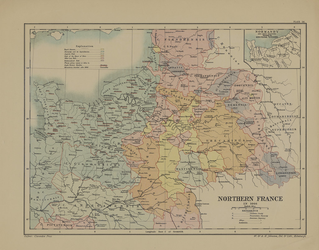 Map page of section lvi nothern france in 1066 from part x flickr map page of section lvi nothern france in 1066 from part x of historical atlas of gumiabroncs Choice Image
