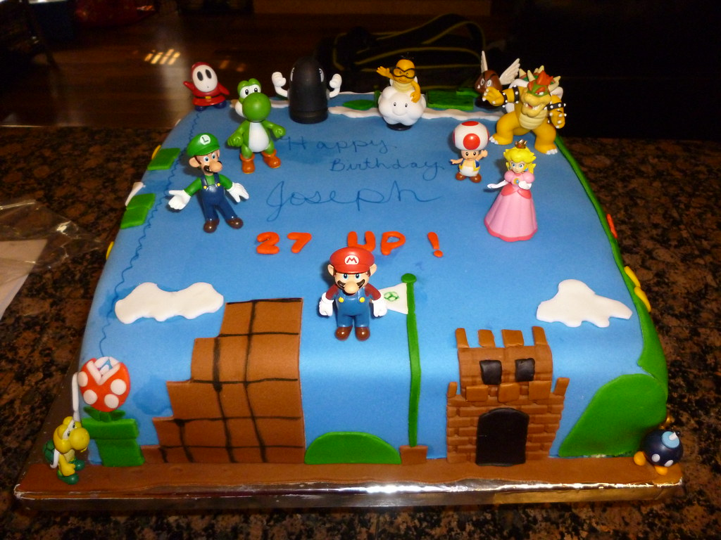 Super Mario Bros Birthday Cake Super Mario Bros Birthday C Flickr